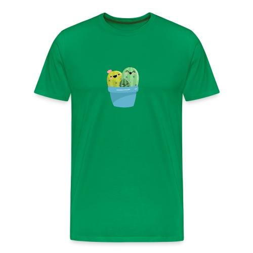 cactus familia - Camiseta premium hombre