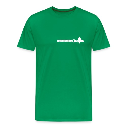 Loricariidae liten med tekst - Premium T-skjorte for menn
