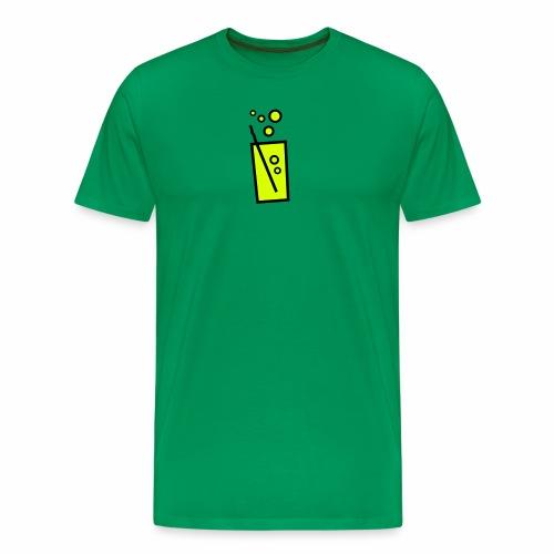 Soda Glas zweifarbig - Männer Premium T-Shirt