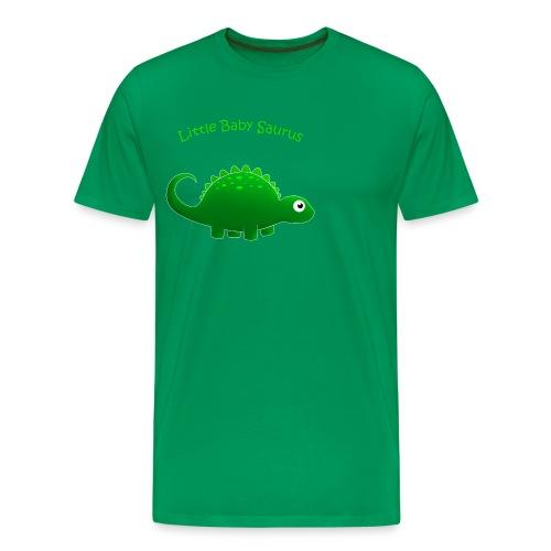 Green Little Baby Saurus - Men's Premium T-Shirt