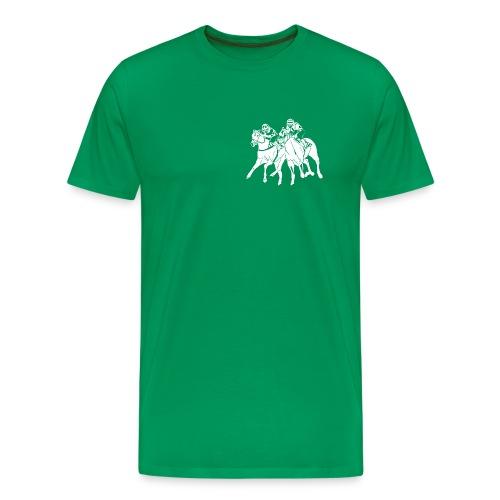 aufkleber scherenschnitttransparent weis - Männer Premium T-Shirt