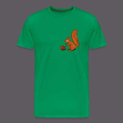 Squirrel with Nut - Männer Premium T-Shirt