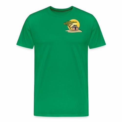 african hut vector art - Men's Premium T-Shirt