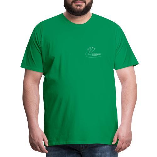 Foerderer Kartause: Logo Weiss Vorne/Hinten - Männer Premium T-Shirt