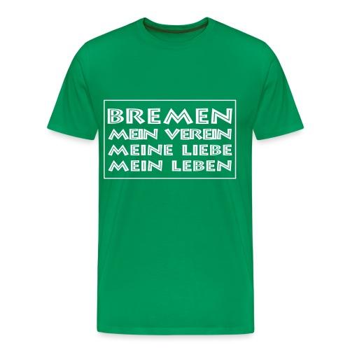 Mein Verein weiß - Männer Premium T-Shirt
