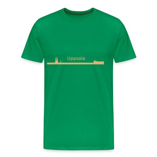 Uppsala silhuett II - Premium-T-shirt herr