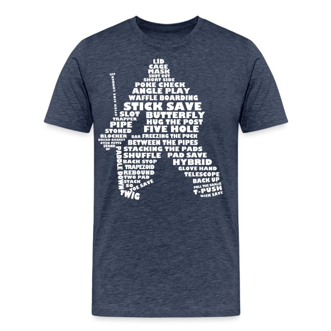 Language of Hockey (Goalie Version, white print)