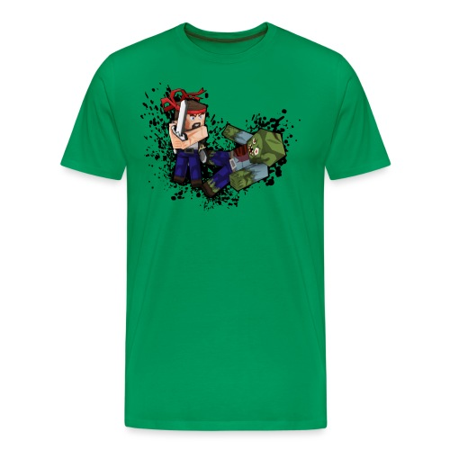 Hero vs Zombie no blood - Men's Premium T-Shirt