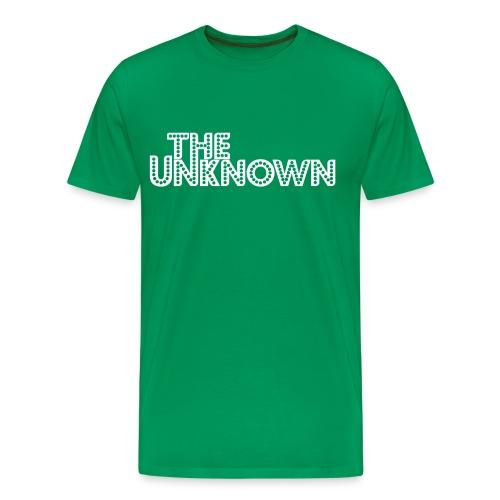 The Unknown Logo white - Herre premium T-shirt