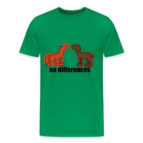 fuchs+hund, fox+dog - Männer Premium T-Shirt