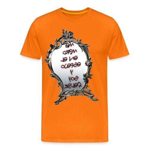 Para el Espejo:ME MIRO EN EL ESPEJO Y SOY FELIZ - Camiseta premium hombre