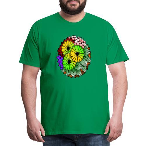 Mandala Blumen Design - Männer Premium T-Shirt