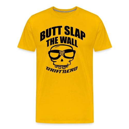 sticker curved kunsvart - Premium T-skjorte for menn
