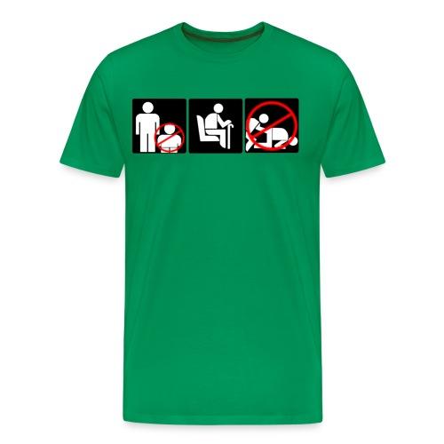 t skjorta tunnelbana png - Premium-T-shirt herr