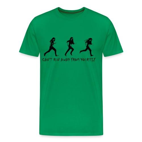 Can't run away - black - Premium-T-shirt herr