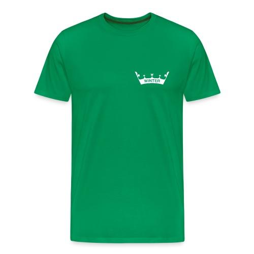 Krone Winter - Männer Premium T-Shirt