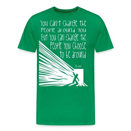 CHOOSE EXIT - Premium-T-shirt herr
