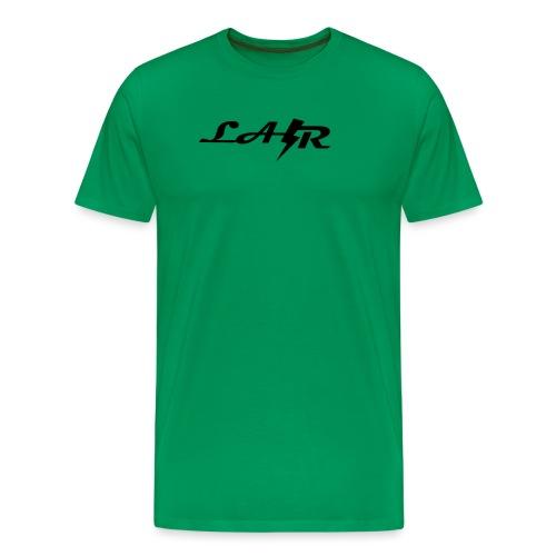 LaZr Lightning Bolt Text Logo - Men's Premium T-Shirt