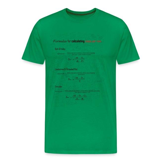 Formulas for calculating steps-per-mm.