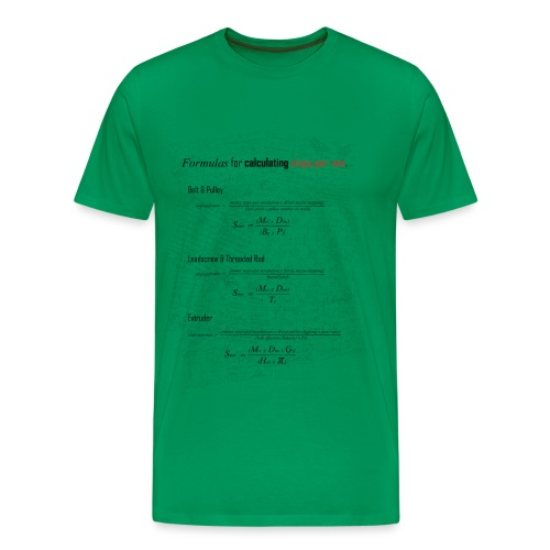 Formulas for calculating steps-per-mm. - Men's Premium T-Shirt