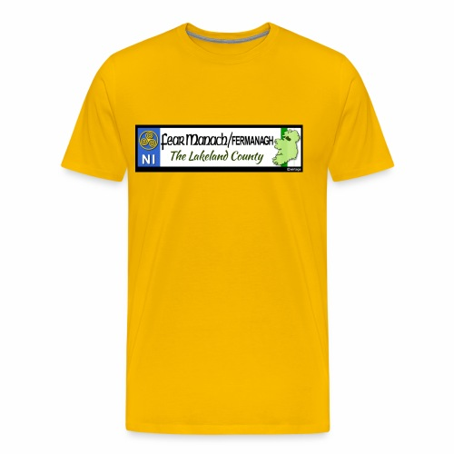 FERMANAGH, NORTHERN IRELAND licence plate tags eu - Men's Premium T-Shirt