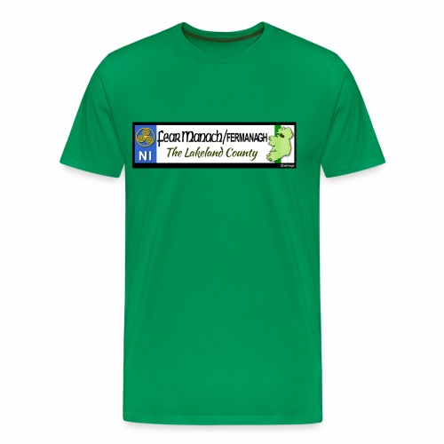 FERMANAGH, NORTHERN IRELAND licence plate tags eu - Men's Premium T-Shirt