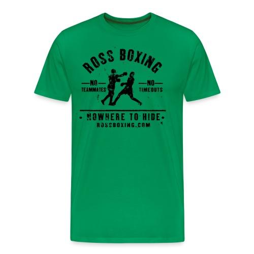 rossboxing black new - Men's Premium T-Shirt
