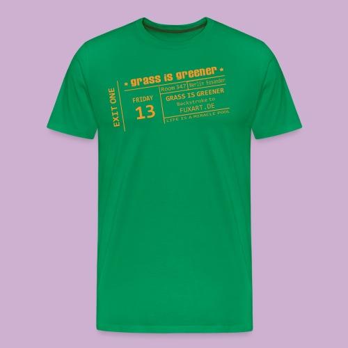 grass is greener - Männer Premium T-Shirt