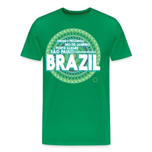 Lemon Brazil Mandala - T-shirt Premium Homme
