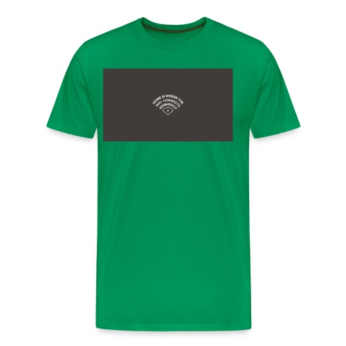 HOME IS WHERE THE WIFI CONNECTS AUTOMATICALLY - Herre premium T-shirt