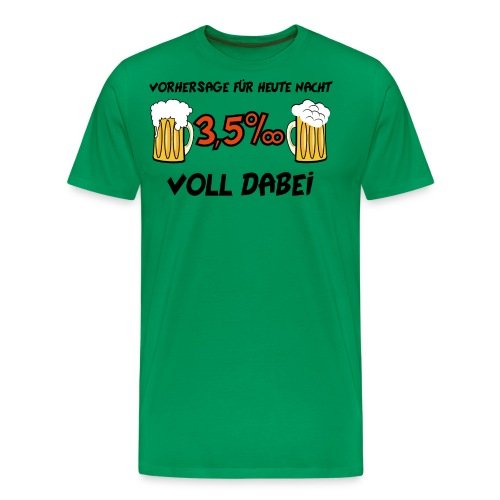 Vorhersage 3,5 Promille - Männer Premium T-Shirt