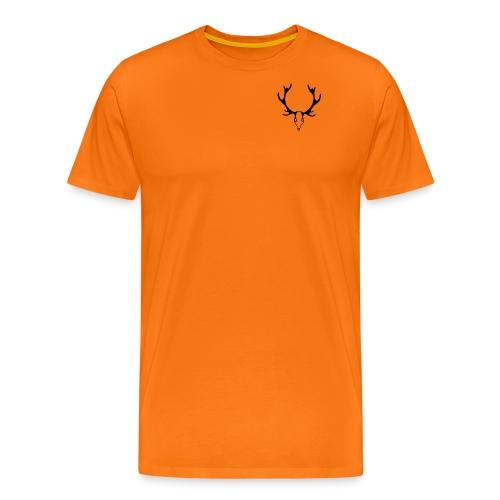 Hirsh grafik sw png - Männer Premium T-Shirt