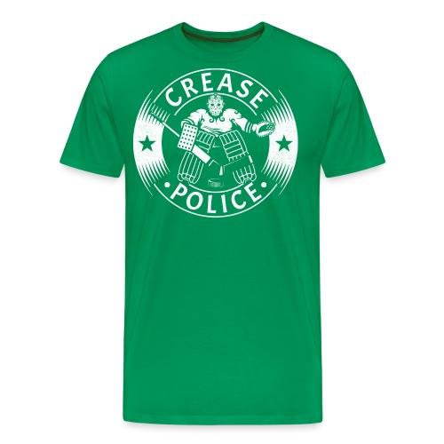 Crease Police Hockey Goalie - Men's Premium T-Shirt