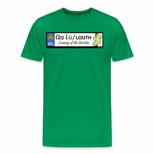CO. LOUTH, IRELAND: licence plate tag style decal - Men's Premium T-Shirt