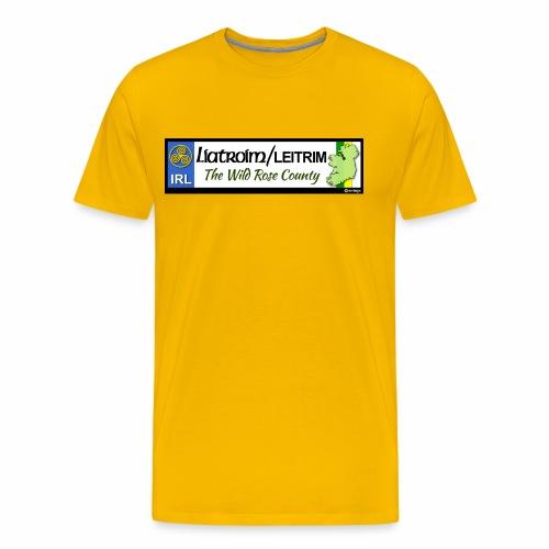LEITRIM, IRELAND: licence plate tag style decal eu - Men's Premium T-Shirt