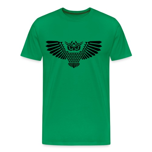 Polygonal Eule - Männer Premium T-Shirt