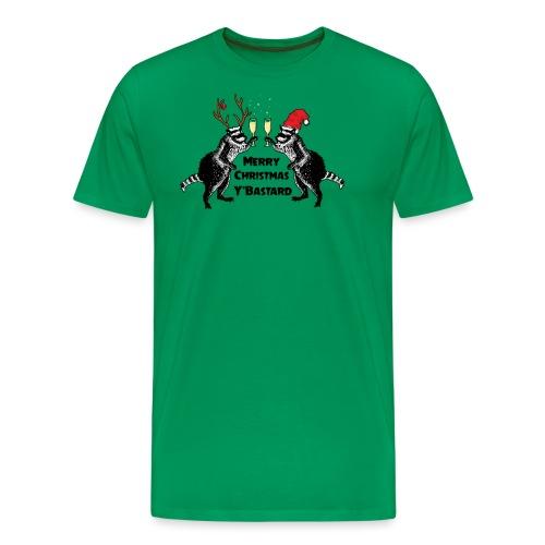 Xmas Raccoons - Men's Premium T-Shirt