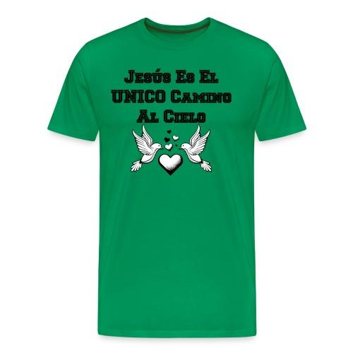 Jesus Unico camino al cielo - Camiseta premium hombre