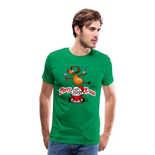 Merry X-mas - VrolijkKerstfeest - Mannen Premium T-shirt