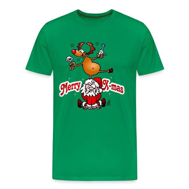 Merry X-mas - Fröhliche Weihnachten - Männer Premium T-Shirt