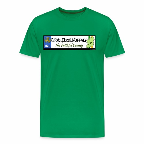 CO. OFFALY, IRELAND: licence plate tag style decal - Men's Premium T-Shirt