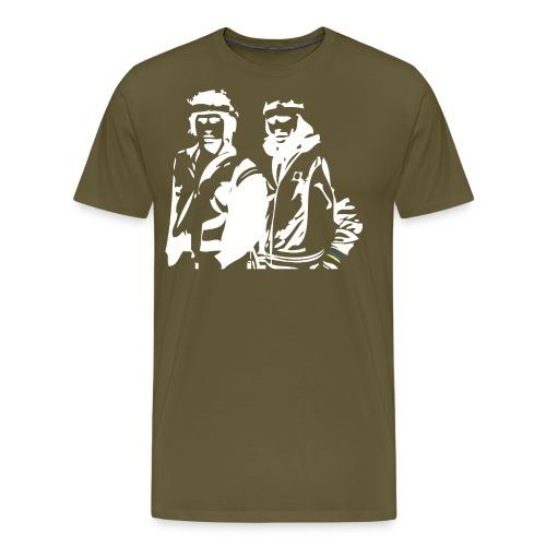 Borg McEnroe Retro Green+White - Miesten premium t-paita