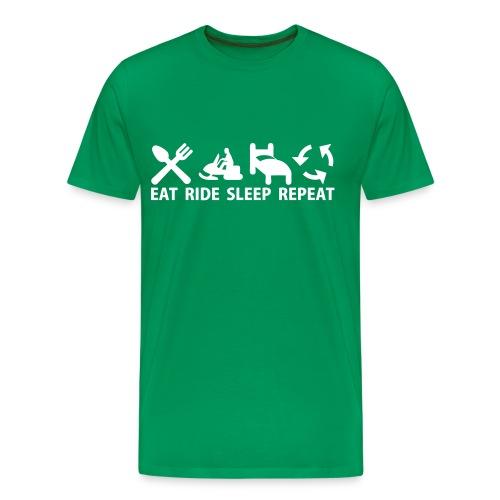 Snöskoter (Sled) - Premium-T-shirt herr