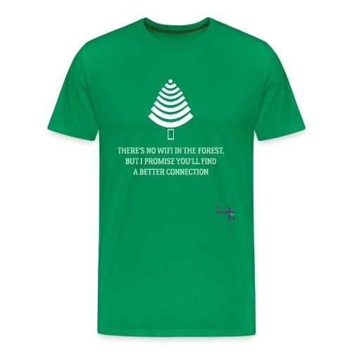 signal t hvid - Herre premium T-shirt