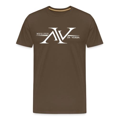 Nullius In Verba Logo - Men's Premium T-Shirt