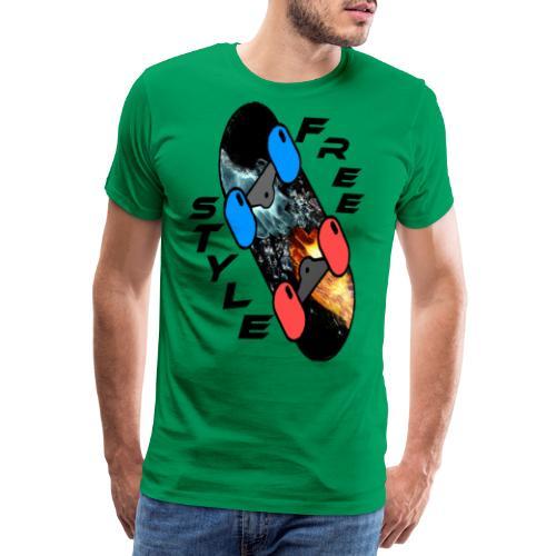 Skateboard Freestyle - Männer Premium T-Shirt