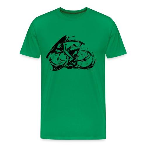 futuristischer radfahrer - Männer Premium T-Shirt