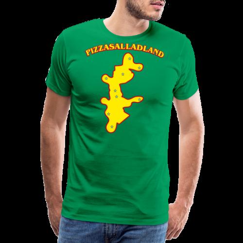 T-shirt, Pizzasalladland - Premium-T-shirt herr