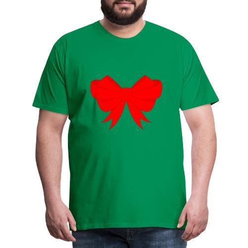 Schleife, Weihnachts Geschenk, Marry Christmas - Männer Premium T-Shirt
