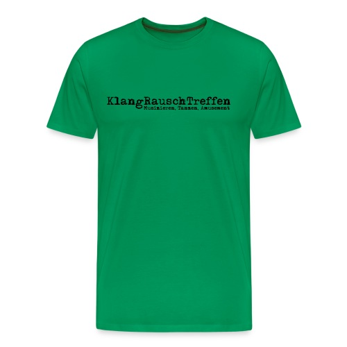 KlangRauschTreffen als Schriftzug - Männer Premium T-Shirt